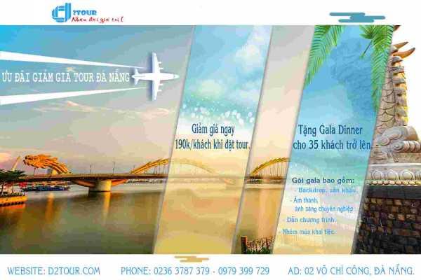 Ưu đãi hấp dẫn dành cho đoàn thể khi đặt tour du lịch Đà Nẵng